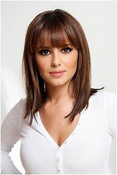 easy hairstyles for straight hair with bangs straight medium hairstyles with blunt bangs easy
