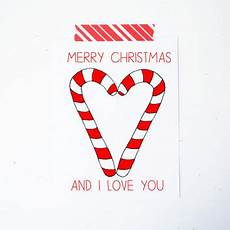 candy christmas card i love you from little sloth little