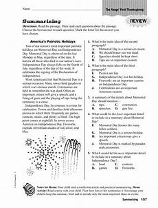 summarizing the yang s first thanksgiving worksheet for 4th 5th grade lesson planet