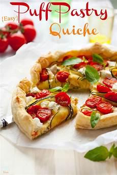 easy puff pastry quiche recipe - Quiche Teig Rezept