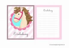 Malvorlagen Kinder Geburtstag Einladungskarten Pferde Zum Kindergeburtstag Kostenlose