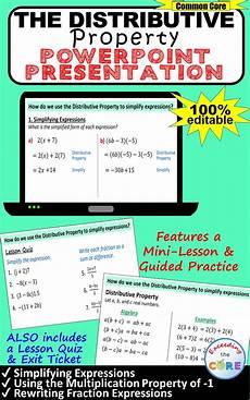 distributive property simplify expressions powerpoint lesson practice for educators