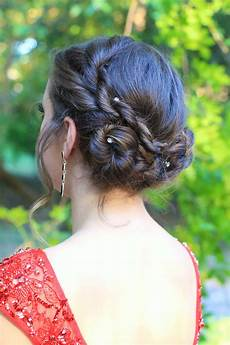 rope twist updo homecoming hairstyles cute