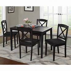 Walmart Kitchen Furniture Mainstays 5 Glass Top Metal Dining Set Walmart