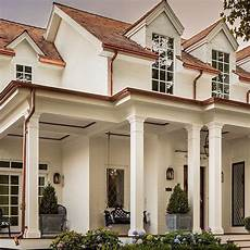 painted brick and copper gutters home sweet home in 2019 exterior paint colors for house