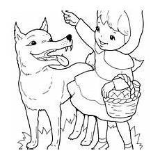 desenho de chapeuzinho vermelho falando o lobo para