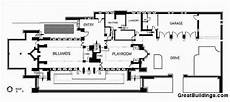 robie house floor plan ad classics frederick c robie house frank lloyd wright