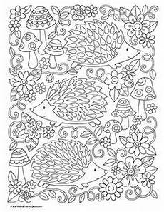 Igel Ausmalbild Erwachsene Pin Regula Lachauer Auf Zentangle Mandala