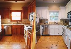 Kitchen Transformations Before And After by Two Monkeys In A Tree Kitchen Redo Rustoleum Cabinet