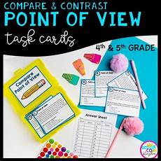 compare contrast point of view task cards 4th 5th