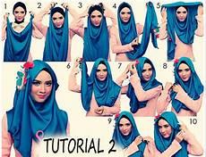 Fashion Contoh Cara Memakai Jilbab Pashmina Glitter 2016