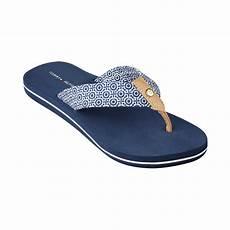 hilfiger womens corrale flip flops in blue king