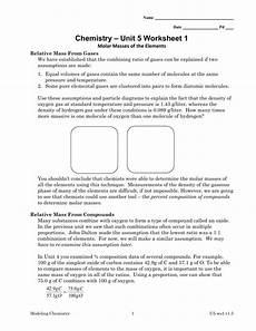 chemistry unit 5 worksheet 1