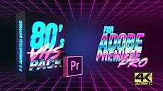 videohive 80 s vhs intro pack mogrt for premiere pro