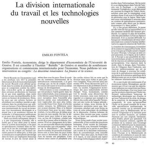 Division Internationale Du Travail