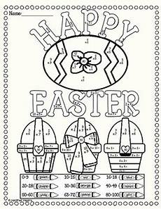 color by number worksheets easter 16129 easter multiplication color by number by mears tpt