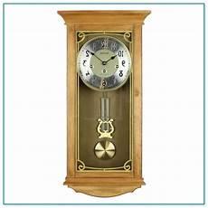 light oak pendulum chiming wall clock home improvement