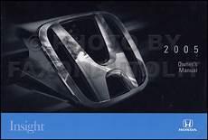 car service manuals pdf 2005 honda insight on board diagnostic system new 2005 honda insight owners manual original oem hybrid owner guide book ebay