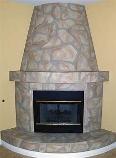 faux stone fireplace houseart custom painting