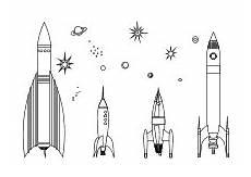 Malvorlagen Rakete Pdf Ausmalbilder Himmel Weltraum Raumfahrt Sonne Mond Sterne