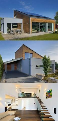 Moderne Bungalows Mit Pultdach - moderner bungalow mit pultdach haus ederer baufritz