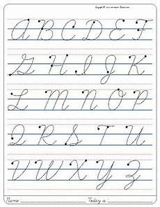 montessori cursive handwriting worksheets 22044 montessori tracing small cursive letters in one letter page uppercase free