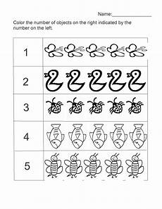 free counting numbers worksheets for kindergarten 8021 numbers 1 5 worksheet for activity shelter five senses number worksheets kindergarten 20