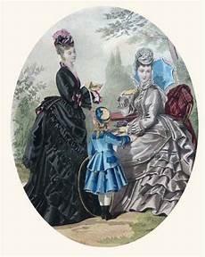 au jardin gravure de mode ancienne femmes en 1900