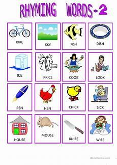 rhyming words 2 worksheet free esl printable worksheets made by teachers