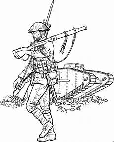 soldat und panzer ausmalbild malvorlage schlachten