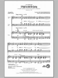 it might as well be spring sheet music direct