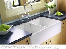 Spülbecken Küche Keramik - astracast sudbury 2 0 wei 223 hochglanz keramik sp 252 le