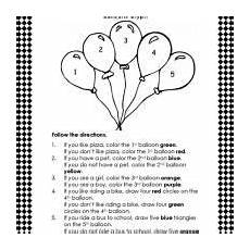 free printable following directions worksheets for kindergarten 11822 a lesson in following directions following directions activities following directions speech