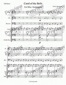 carol of the bells download sheet music pdf file