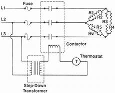 Industrial Compressor 3 Phase Wiring Diagram by How To Wire A Single Phase Heater With 3 Phase