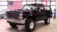 1985 chevrolet blazer k5 black youtube