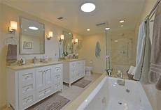 All White Master Bathroom Ideas by This Appealing All White Master Bath Includes A Pair Of