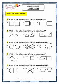 grade 3 maths worksheets 14 5 geometry congruent shapes lets share knowledge