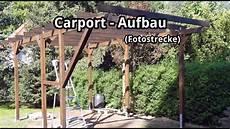 carport bau aufbau eines einzelcarports fotostrecke