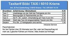 taxitarif b 246 bi taxi