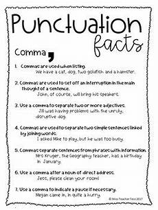 punctuation worksheets using commas 20910 punctuation worksheets and factsheets by miss tess tpt