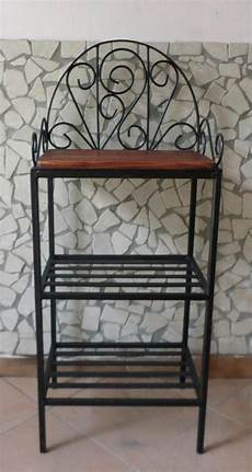 etagere in ferro battuto scaffale libreria etagere in ferro battuto rustico country