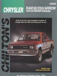 service manual car manuals free online 1993 dodge d250 engine control 1993 dodge ram truck chilton dodge ram 50 d50 arrow 1979 1993 repair manual