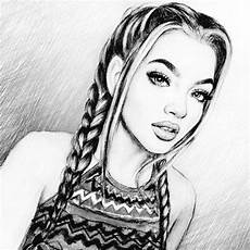 dessin fille noir et blanc lina en 2019 dessin au