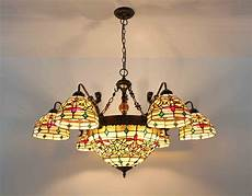 chandelier stained glass l ceiling pendant light fixture luxury l ebay