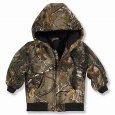 baby camo coats carhartt toddler boys camo hooded flannel quilt lined