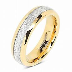 100s jewelry 6mm mens womens tungsten carbide ring meteorite inlay wedding band size 4 13