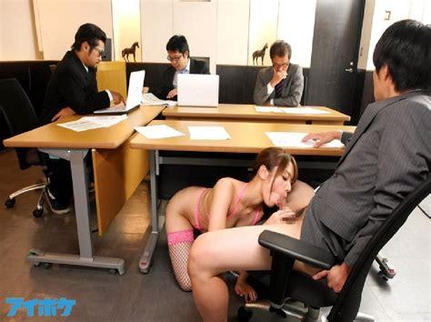 Blowjob Under Desk