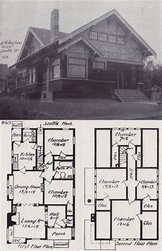 early 1900s house plans 1908 bungalows by v w voorhees of seattle plan no 69
