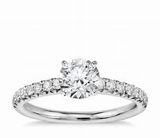 pav 233 diamond engagement ring in platinum 1 4 ct tw blue nile